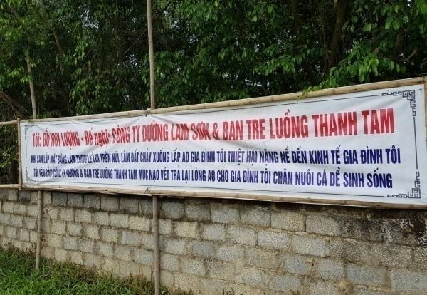 Thanh Hóa: Dự án sinh thái của Công ty mía đường Lam Sơn bị người dân tố xây dựng trái luật?