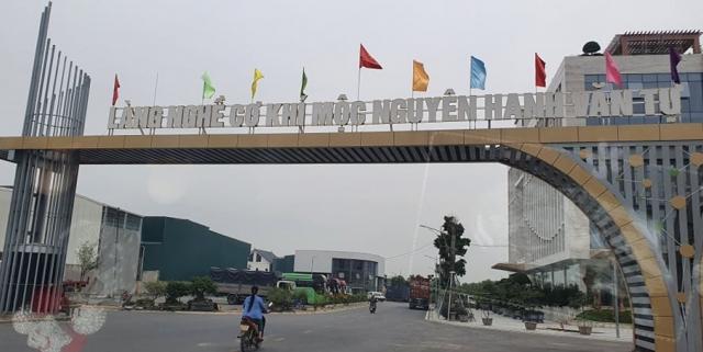 """Hà Nội: Thanh tra Sở Xây dựng vào cuộc vụ Cụm Công nghiệp làng nghề xã Văn Tự bị """"biến tướng"""" thành nhà ở!"""