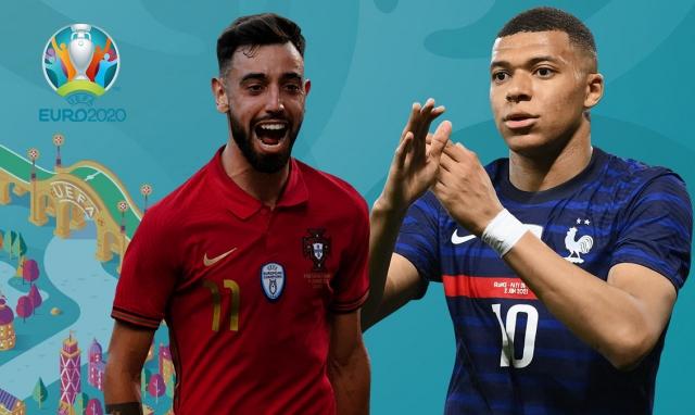 Lịch thi đấu Euro 2020: Tâm điểm trận đấu giữa Bồ Đào Nha và Pháp