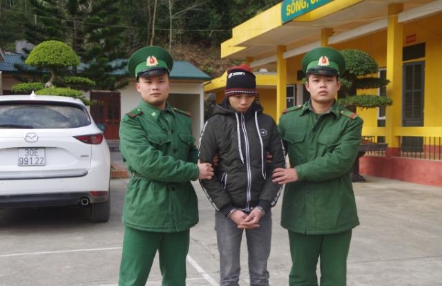 Cao Bằng: Đồn Biên phòng Cửa khẩu Trà Lĩnh bắt 2 đối tượng buôn ma túy