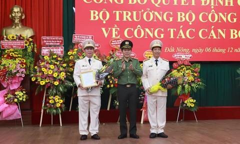 Hai tỉnh Đắk Lắk và Đắk Nông có tân Giám đốc Công an