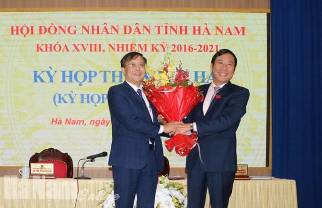 Ông Nguyễn Đức Vượng giữ chức Phó Chủ tịch UBND tỉnh Hà Nam