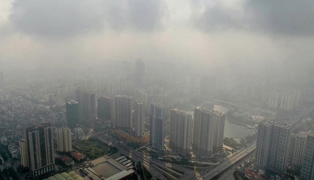 Không khí Hà Nội lại ô nhiễm nặng