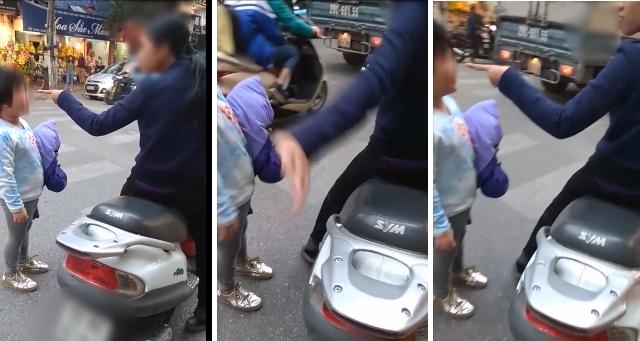 [Clip]: Phản cảm với hình ảnh quát tháo, đánh trẻ nhỏ giữa đường