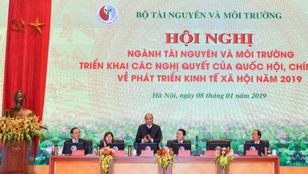 Thủ tướng lưu ý Bộ Tài nguyên và Môi trường nhiều vấn đề lớn