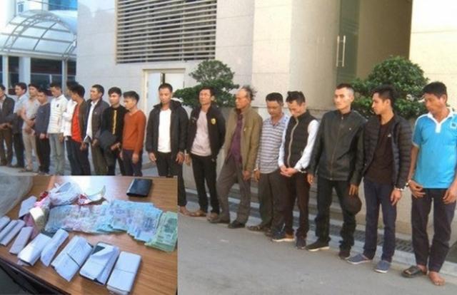 Thanh Hóa: Bắt 18 con bạc say sưa sát phạt ngày Tết