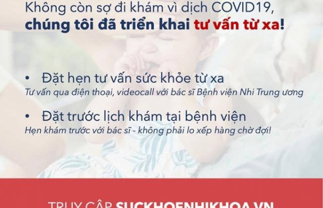 Bệnh viện Nhi TW triển khai khám bệnh online miễn phí cho trẻ em