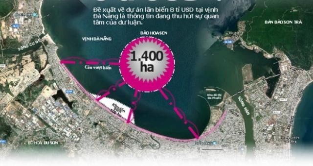 Dự án lấn biển 8 tỉ USD ở Đà Nẵng?