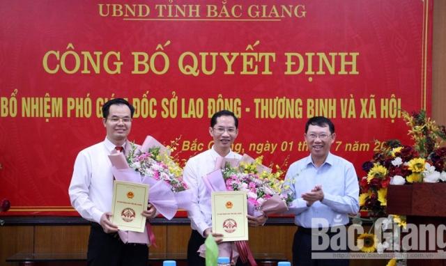 Sở Lao động - Thương binh và Xã hội tỉnh Bắc Giang có 2 tân Phó giám đốc