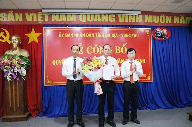 Bổ nhiệm Giám đốc Sở Tài nguyên & Môi trường tỉnh Bà Rịa - Vũng Tàu