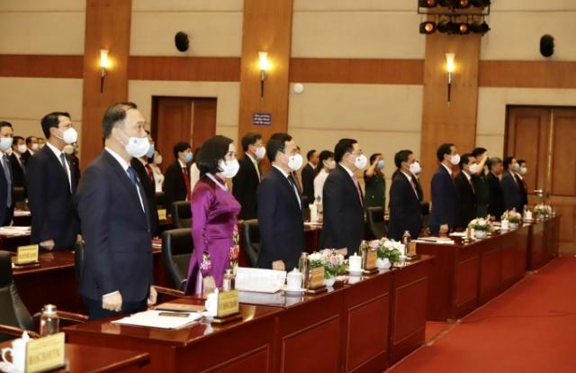 Chủ tịch Quốc hội Vương Đình Huệ dự Kỳ họp thứ nhất HĐND TP Hải Phòng khoá XVI