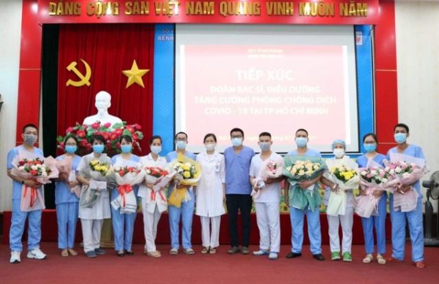 Hải Phòng: Các bệnh viện gặp mặt động viên bác sỹ, điều dưỡng lên đường chống dịch tại TP Hồ Chí Minh