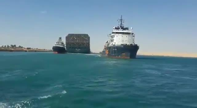 """Video: Cuộc """"khủng hoảng"""" trên kênh đào Suez đã chấm dứt"""