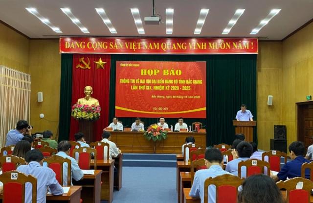 Đại hội đại biểu Đảng bộ tỉnh Bắc Giang lần thứ XIX sẽ diễn ra từ ngày 13 - 15/10