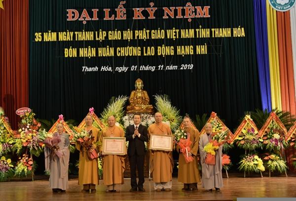 Giáo hội Phật giáo Việt Nam tỉnh Thanh Hoá đón nhận huân chương lao động hạng Nhì