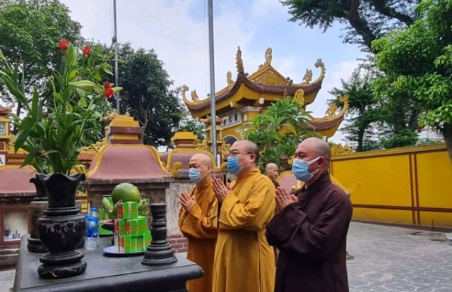 Hà Nội: Dâng hương tưởng niệm cố Trưởng lão Hòa thượng Kim Cương Tử