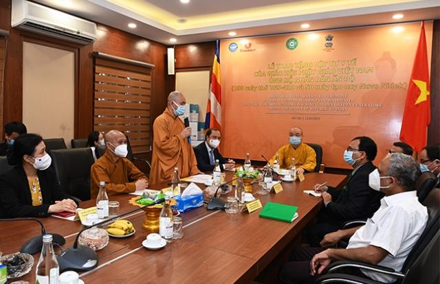 Giáo hội Phật giáo Việt Nam tặng 100 máy thở, 50 máy tạo oxy cho Chính phủ và nhân dân Ấn Độ