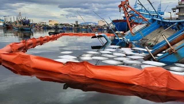 Tàu liên tiếp bị chìm sau khi cảng cá lớn nhất miền Trung phong tỏa