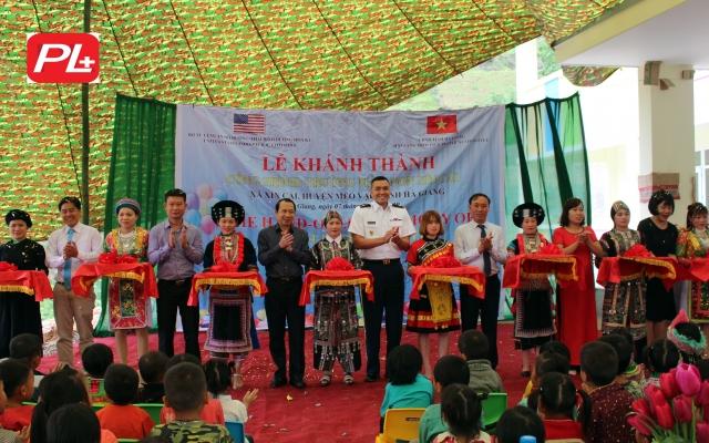 Hà Giang: Khánh thành công trình Trường Mầm non trị giá hơn 10 tỷ đồng do  Bộ Tư lệnh Thái Bình Dương tài trợ