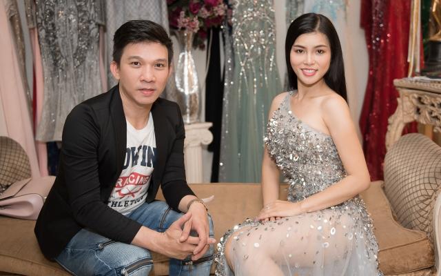 Quỳnh Như khoe vẻ gợi cảm trong trang phục dạ hội