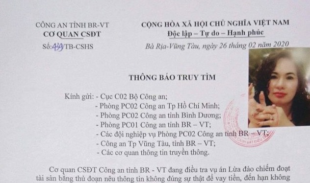Bà Rịa - Vũng Tàu: Bị tố cáo lừa đảo hơn trăm tỷ đồng, Trần Thị Kim Loan đã ôm tiền biến mất