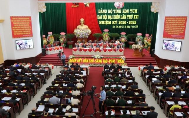 346 đại biểu tham dự đại hội Đảng bộ tỉnh Kon Tum lần thứ XVI 2020-2025