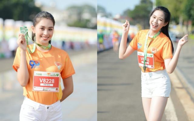 Hoa hậu Việt Nam Tiểu Vy, Đỗ Thị Hà xinh tươi chạy marathon