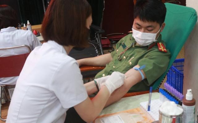 Hiến máu cứu người - Nghĩa cử cao đẹp của HV An ninh nhân dân
