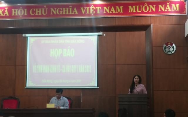Tỉnh Đắk Nông tổ chức họp báo định kỳ quý I