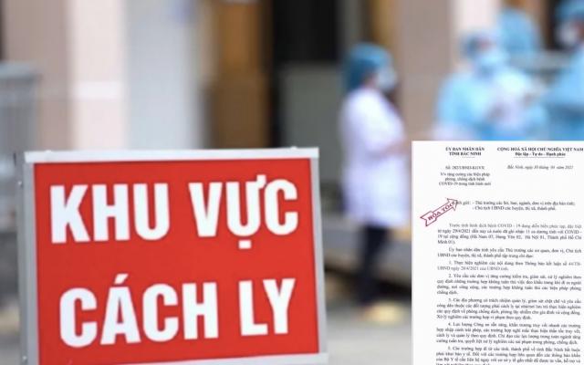 Bắc Ninh ban hành Công văn hỏa tốc chỉ đạo phòng, chống dịch Covid-19