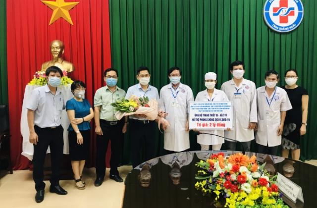 Doanh nghiệp trao máy thở, máy xét nghiệm cho tỉnh Quảng Ngãi phòng/chống dịch Covid-19