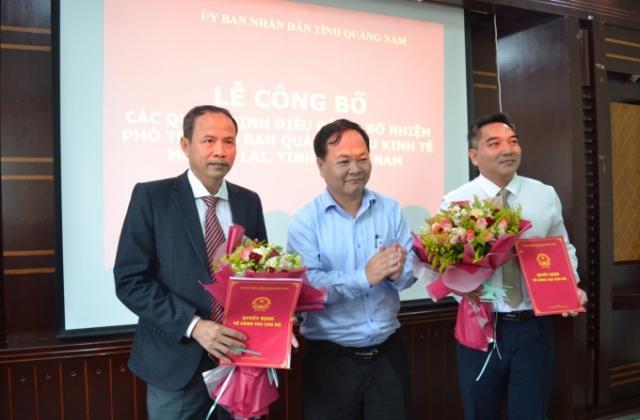 Quảng Nam: Bổ nhiệm 2 Phó trưởng ban quản lý Khu kinh tế mở Chu Lai