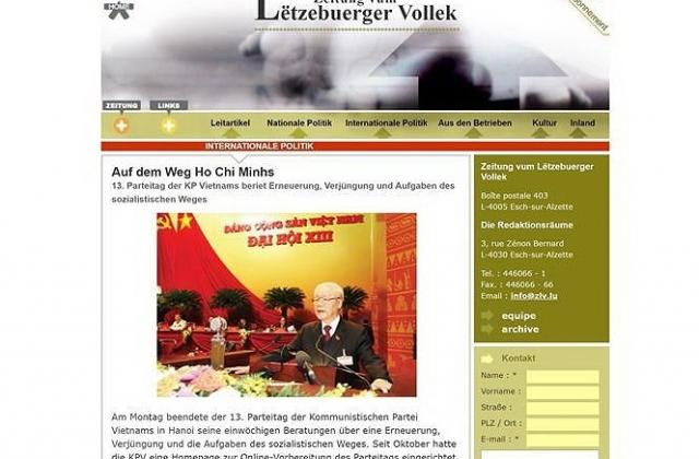 Học giả Đức nêu bật ý nghĩa của Đại hội XIII với phong trào cộng sản