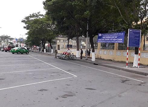 Đà Nẵng chấm dứt cho thuê giữ xe trước Bảo tàng Chàm, dãy nhà hàng biển