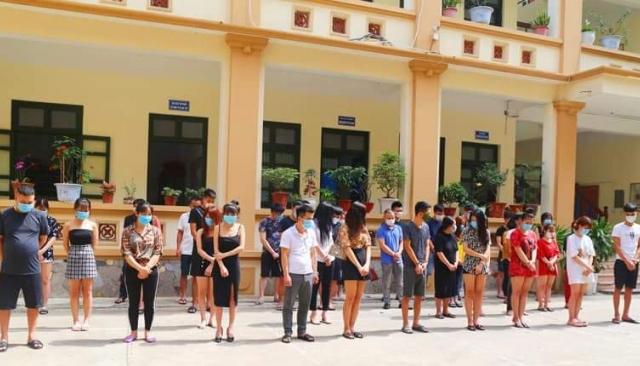 Bắc Ninh: Bắt quả tang 33 thanh niên tụ tập sử dụng trái phép chất ma túy