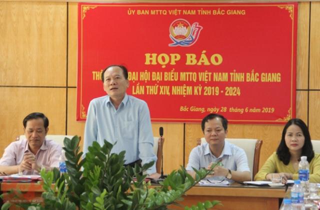 Họp báo thông tin Đại hội đại biểu Mặt trận Tổ quốc Việt Nam tỉnh Bắc Giang lần thứ XIV