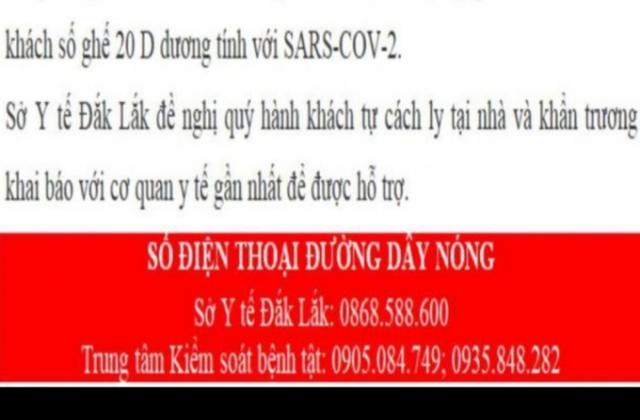 Đắk Lắk: Phát hiện 2 ca nghi nhiễm SARS-COVID 2, khẩn trương tìm dấu đường đi để cách ly