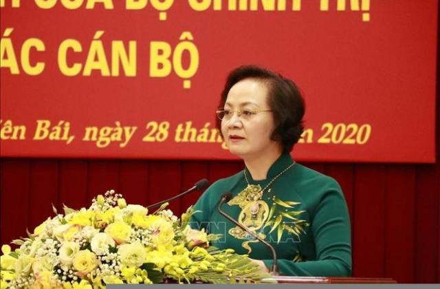 Bà Phạm Thị Thanh Trà giữ chức phó trưởng Ban Tổ chức trung ương