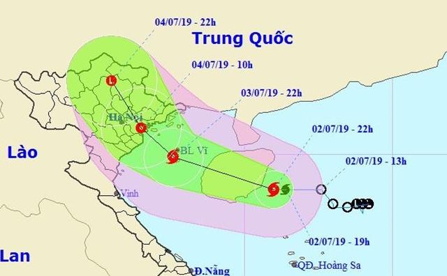 Dự báo thời tiết ngày 3/7: Cơn bão số 2 - MUN chuẩn bị độ bộ đất liền