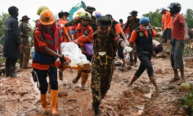 Myanmar triển khai binh sỹ hỗ trợ tìm kiếm cứu nạn sau lở đất