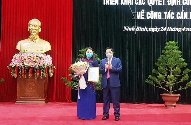 Bộ Chính trị bổ nhiệm bà Nguyễn Thị Thu Hà giữ chức Bí thư tỉnh ủy Ninh Bình