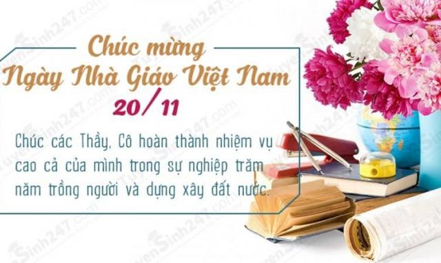 Những lời chúc ngày 20/11 hay và ý nghĩa dành tặng thầy cô