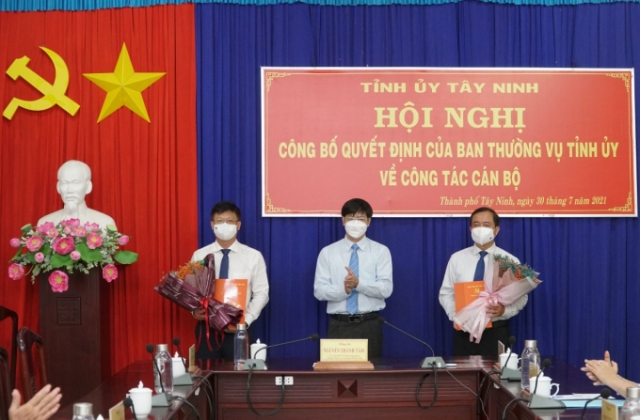 Tây Ninh có tân Trưởng Ban Nội chính Tỉnh ủy và Bí thư Thành ủy TP Tây Ninh