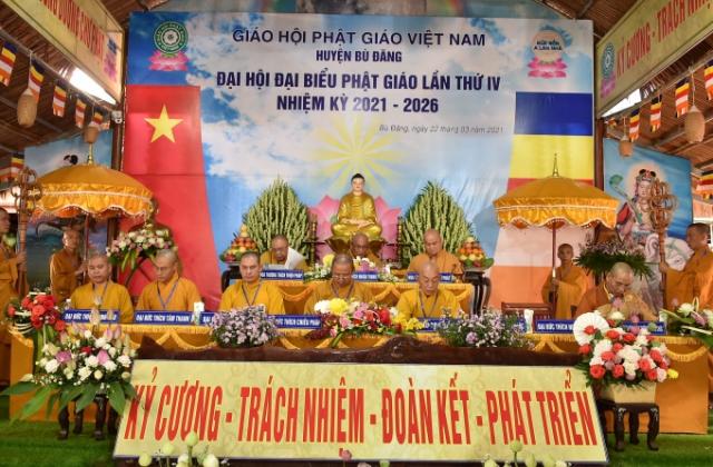 Bình Phước: Đại hội đại biểu Phật giáo huyện Bù Đăng nhiệm kỳ 2021-2026