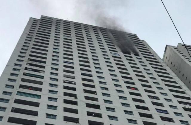 Căn hộ tại toà nhà HH3B chung cư Linh Đàm phát hỏa