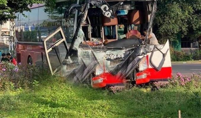 Xe khách đối đầu xe tải ở Buôn Ma Thuột, nhiều người thương vong