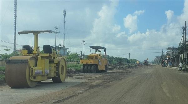 Thái Bình: Thi công tuyến đường 221A chậm vì vướng mặt bằng