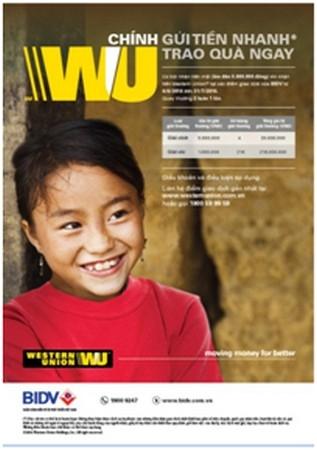 """Chương trình khuyến mại dịch vụ nhận tiền Western Union """"Kiều hối nhận ngay, trao tay quà tặng"""""""