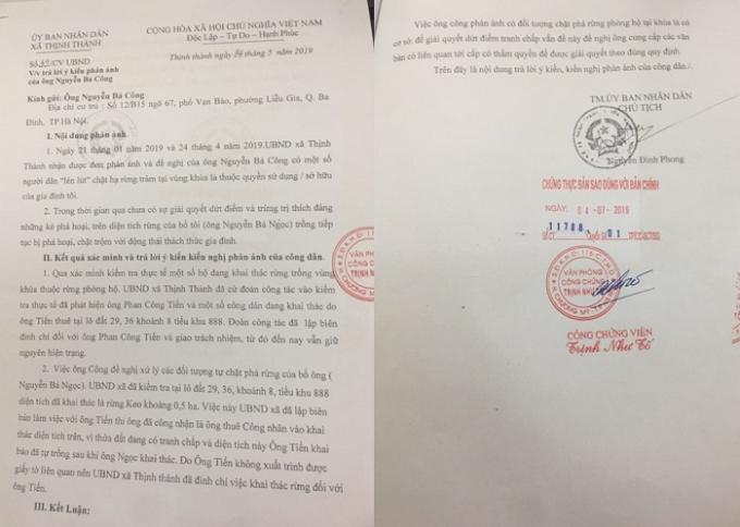 Yên Thành - Nghệ An vụ khai thác rừng trái phép : Công dân lần thứ 3 gửi đơn cầu cứu